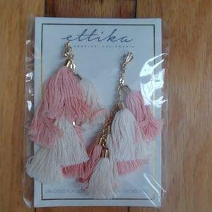 New Ettika tassel earrings